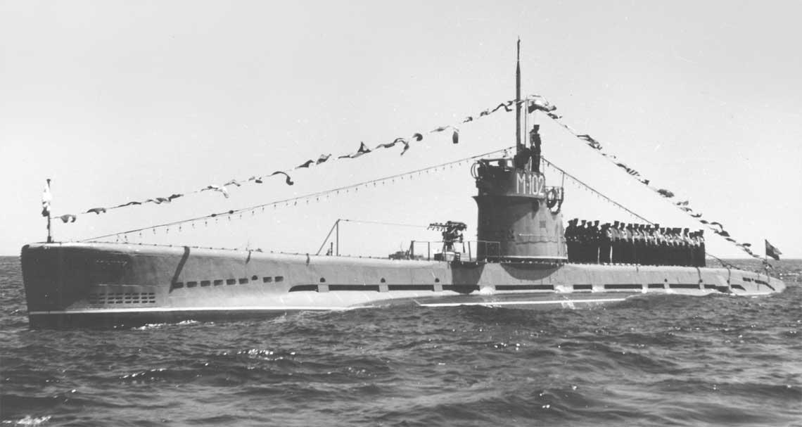ORP Krakowiak podczas Święta Morza  w 1956r.