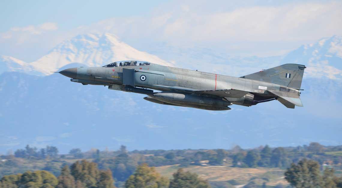 Pierwsze F-4E Siłom Powietrznym Grecji dostarczono w latach 1974-1978