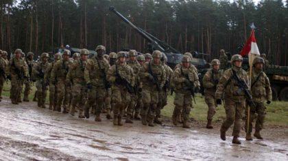 Powitanie sił NATO w Orzyszu