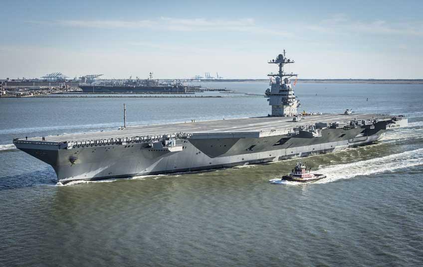 USS Gerald R. Ford wyruszył w morze