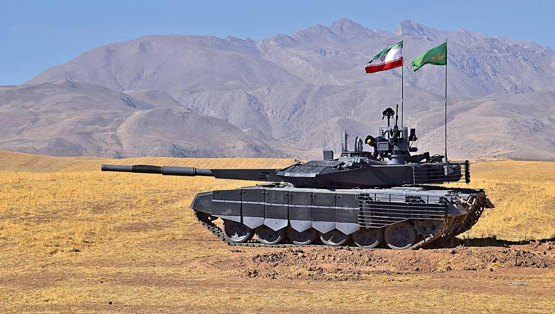 Czołg Karrar ze zdalnie sterowanym stanowiskiem 12,7 mm