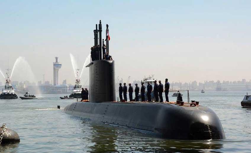 przybycie do bazy w Aleksandrii pierwszego okrętu podwodnego Typu 209