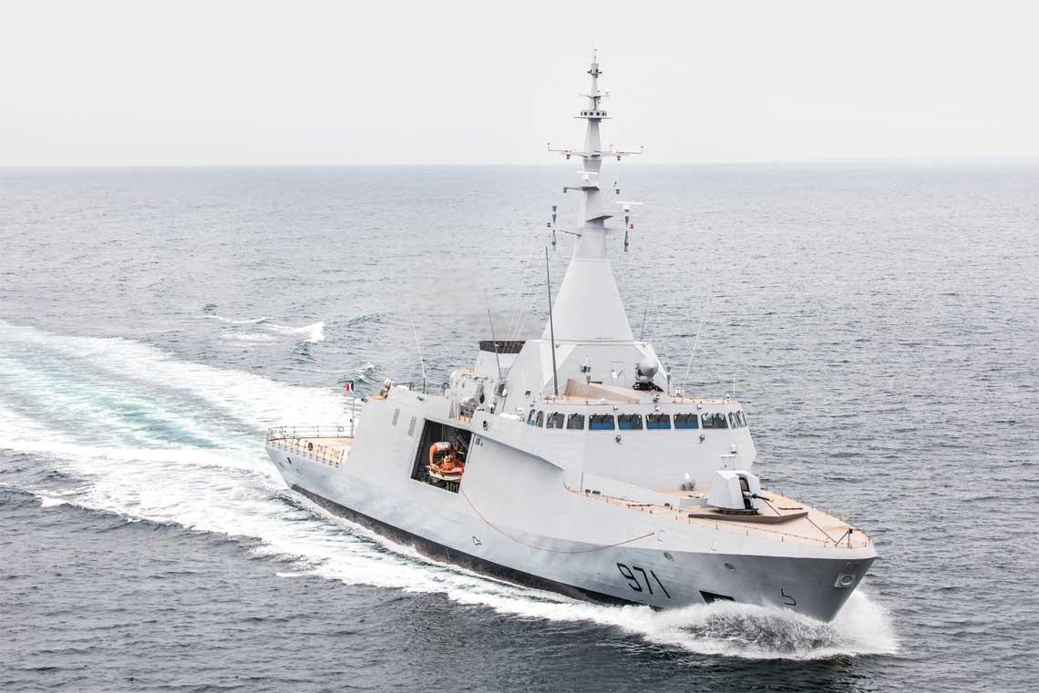 korweta El Fateh typu Gowind 2500, pretendują do udziału w przetargu na okręty obrony wybrzeża Miecznik