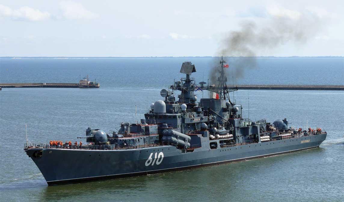 Okręt flagowy Floty Bałtyckiej – niszczyciel Nastojcziwyj