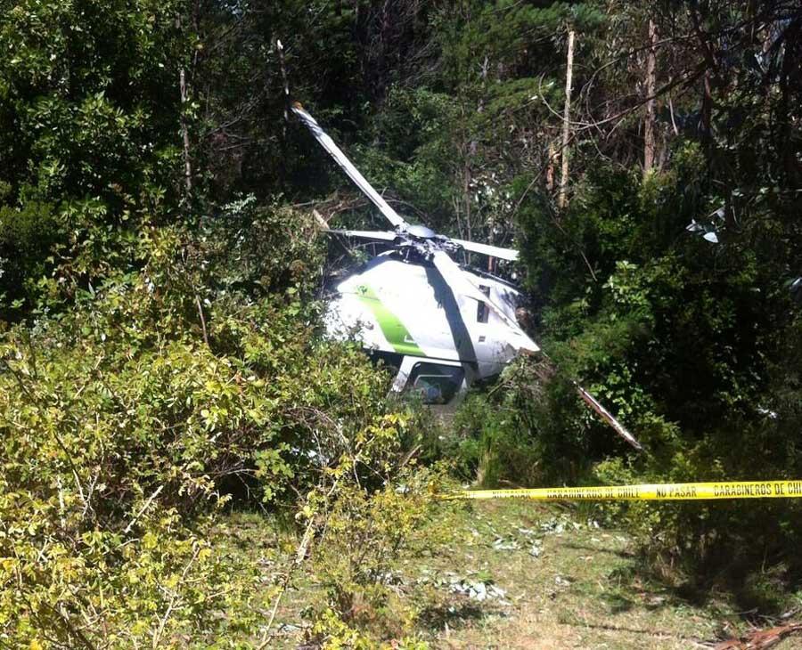 w Chile utracono śmigłowiec służący do operacji przeciwpożarowych, tym razem był to AgustaWestland AW119 należący do przedsiębiorstwa Faasa Chile Servicios Aéreos Ltd.