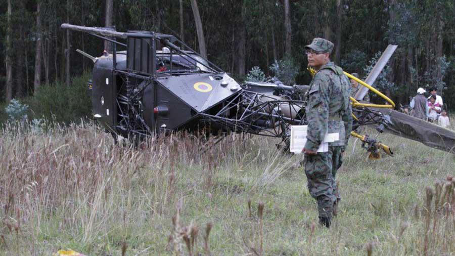 Śmigłowiec Aérospatiale SA 315B Lama należący do sił zbrojnych Ekwadoru zanotował twarde lądowanie w pobliżu Morona Santiago