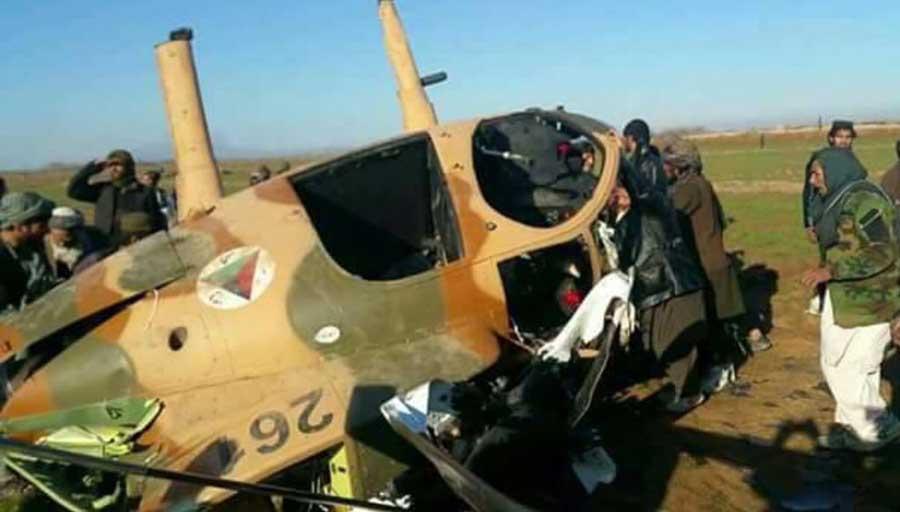Zestrzelony przez Talibów, lekki śmigłowiec bojowy MD Helicopters MD530.