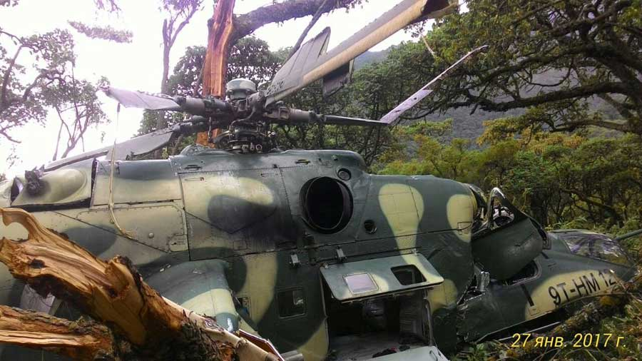 W Demokratycznej Republice Konga doszło do utraty dwóch śmigłowców szturmowych Mi-24 patrolujących teren, na którym operowali rebelianci z organizacji M23.