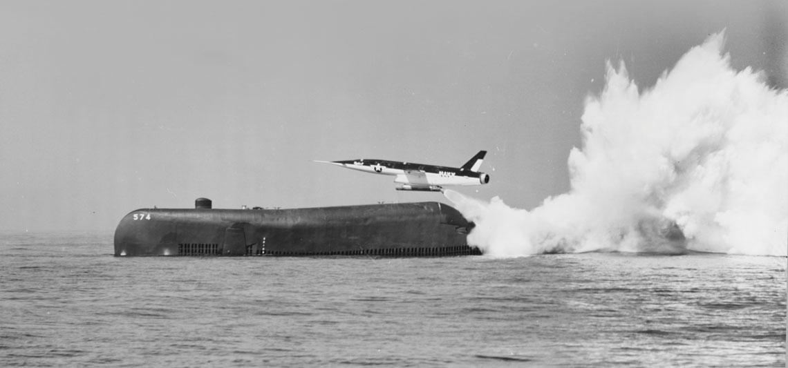 Jedyne odpalenie pocisku Regulus II  z USS Grayback, 18 sierpnia 1958 r.  Fot. National Archives