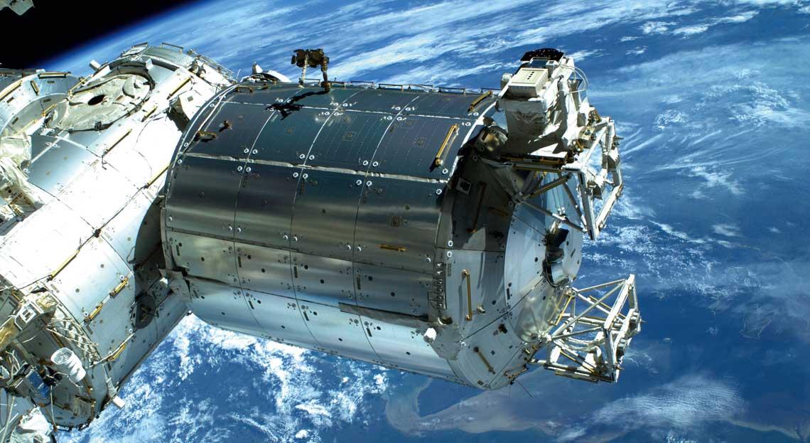 Europejskie laboratorium Columbus  – ważny element Międzynarodowej  Stacji Kosmicznej.