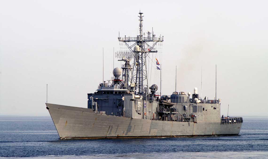 Fregata ORP Gen. K. Pułaski. Jej przejęcie w 2000r. otworzyło w naszej flocie erę okrętów z uzbrojeniem i wyposażeniem standardowym dla krajów członkowskich NATO.