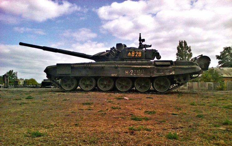 """T-72B3 """"828"""" z200.BZ wKamieńsku Szachtyńskim, obwód rostowski."""