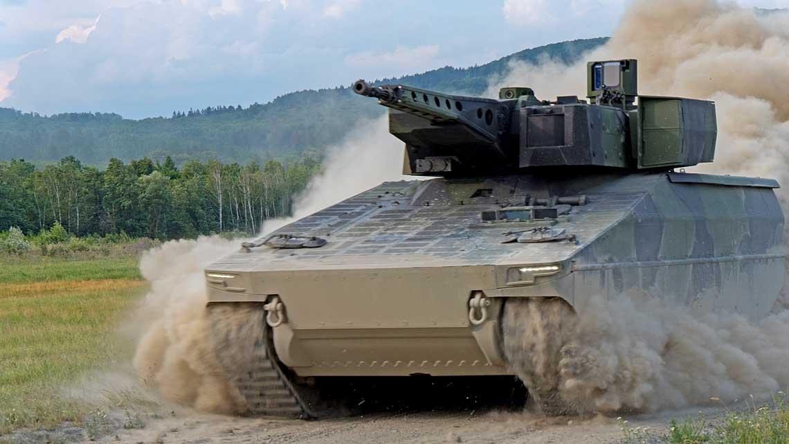 Bojowy wóz piechoty Lynx łączy wsobie najnowsze rozwiązania wzakresie ochrony wnętrza, wyposażenia optoelektronicznego iuzbrojenia zakceptowalną ceną zakupu ikosztami eksploatacji wcyklu życia.