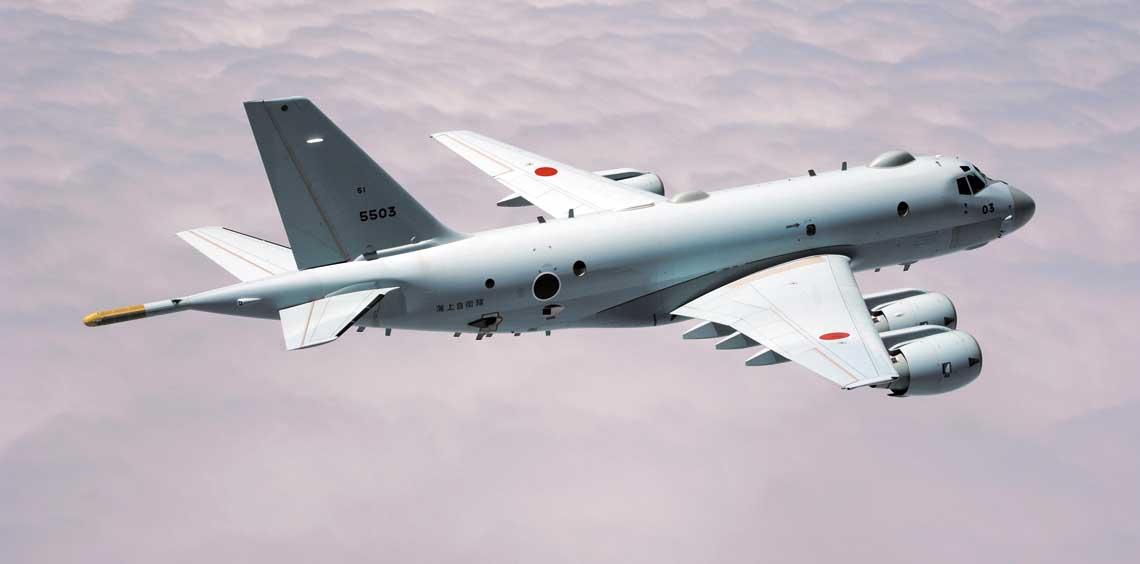 Morski samolot patrolowy P-1 (nr ewid. 5503) jest jednym z trzech realizowanych obecnie w KHI  programów produkcyjnych dla japońskich Sił Samoobrony, obok samolotu transportowego  C-2 i śmigłowca transportowo-przeciwminowego MCH-101.