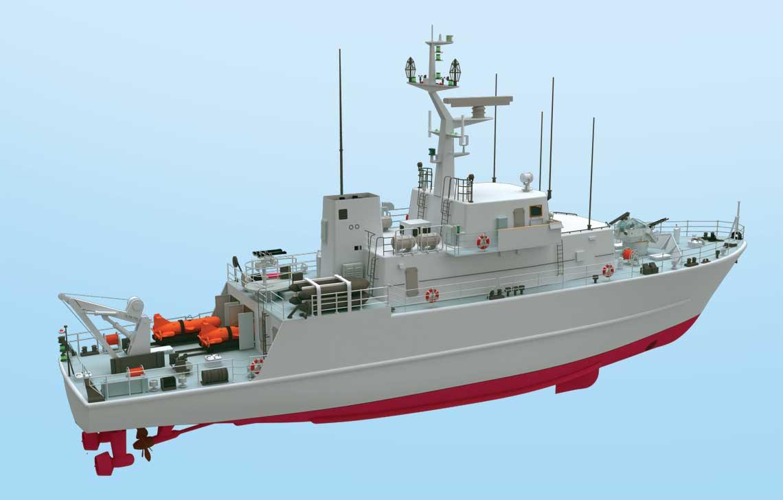 Wcześniejsze okręty przeciwminowe polskiej konstrukcji miały kadłuby gładkopokładowe. Lodówka nawiązywała do projektów zachodnich i sowieckich, w których stosowano wyższą część dziobową, kryjącą dziobówkę, i obniżony pokład roboczy na rufie.