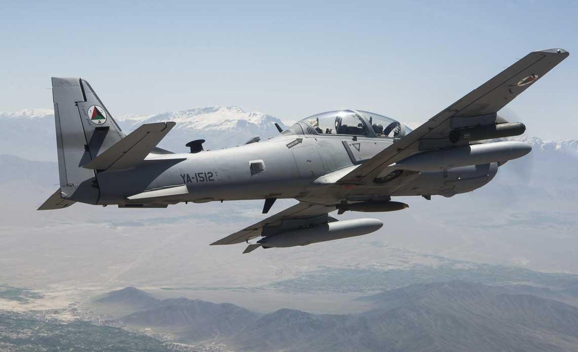 A-29 Super Tucano został pozyskany przez afgańskie lotnictwo w liczbie 20 sztuk. Wkrótce ma zostać  złożone zamówienie na dodatkowych sześć maszyn tego typu. Fot. USAF/ Staff Sgt. Larry Reid