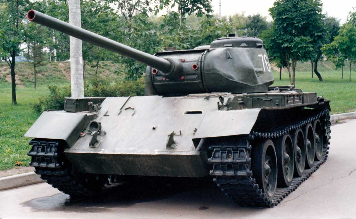 T-44 z armata kal. 85 mm. Fot. T. Szulc