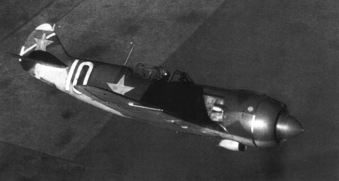 Jednomiejscowy samolot myśliwski Ła-5 z okresu II wojny światowej