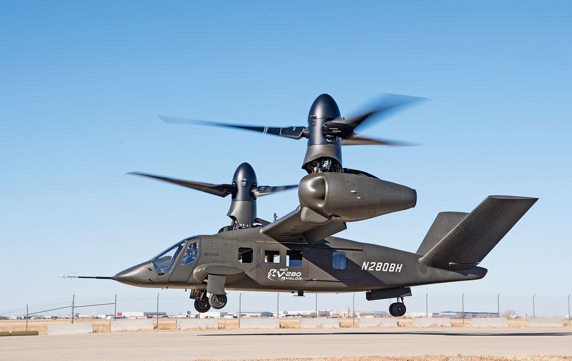 18grudnia 2017r. Bell V-280 Valor po raz pierwszy wzbil sie wpowietrze ipozostawal wzawisie przez kilkanascie minut.