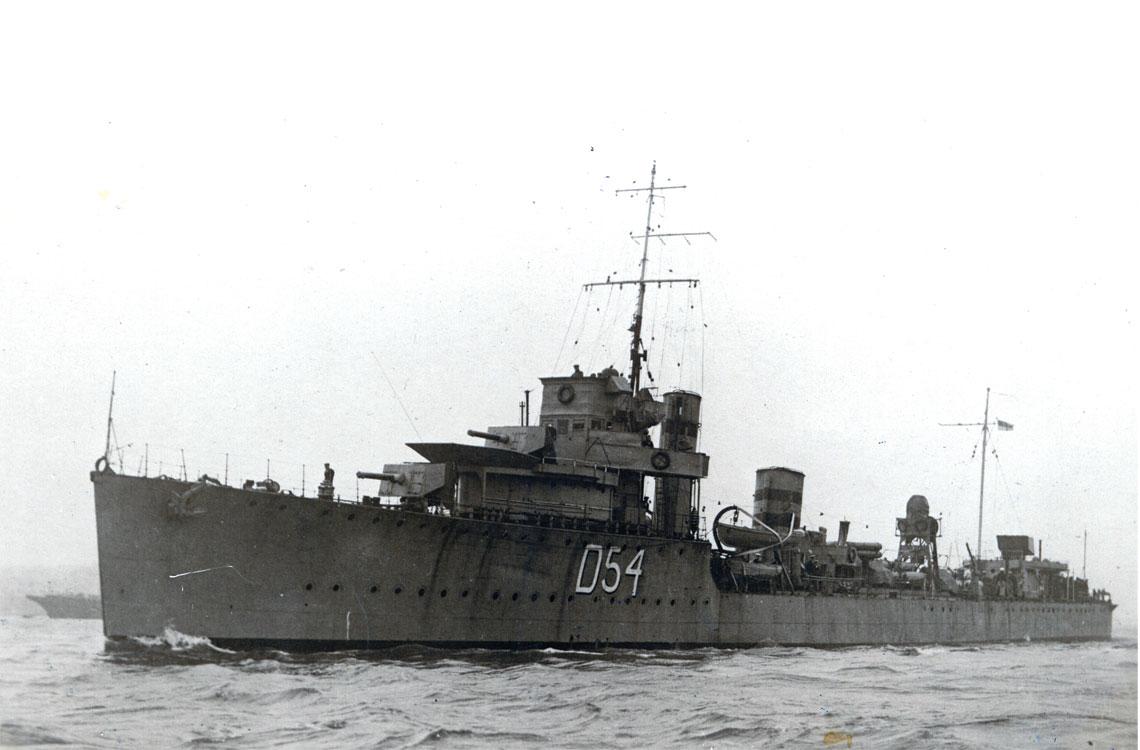 Niszczyciel HMS Vanquisher ostatecznie nie podniosl biało-czerwonej bandery.