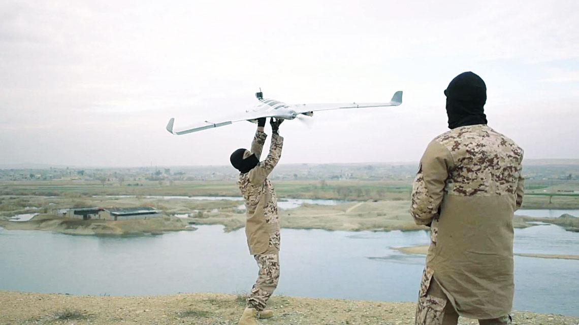 Powietrzne bezzalogowce Daesza w Iraku i Syrii