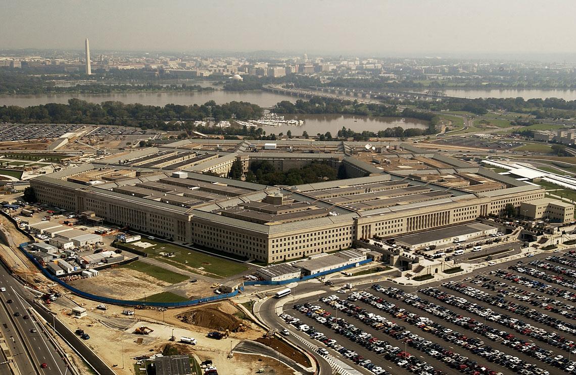 Przewidywany budzet Departamentu Obrony Stanow Zjednoczonych w roku podatkowym 2019 wynosi 686mld USD, czyli o 13% wiecej w stosunku do budzetu 2017r. (ostatniego, przeglosowanego przez Kongres). Na zdjeciu Pentagon – siedziba Departamentu Obrony Stanow Zjednoczonych.