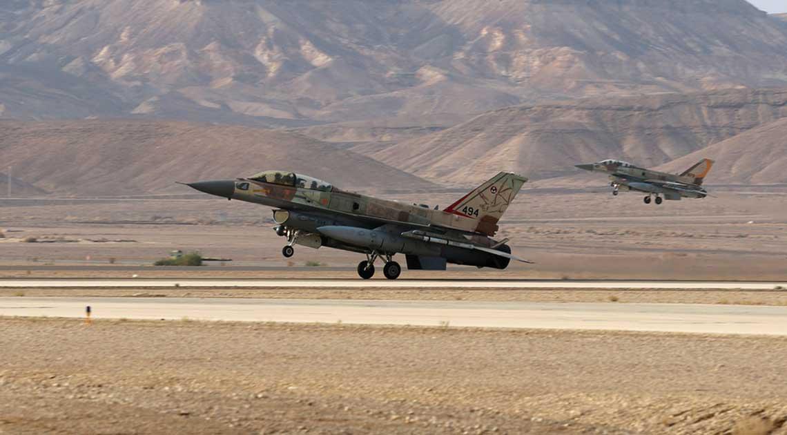 Samolot myśliwsko-bombowy F-16I Sufa jest zasadniczą platformą powietrzną  wykorzystywaną przez izraelskie lotnictwo do uderzeń na cele na syryjskim terytorium.
