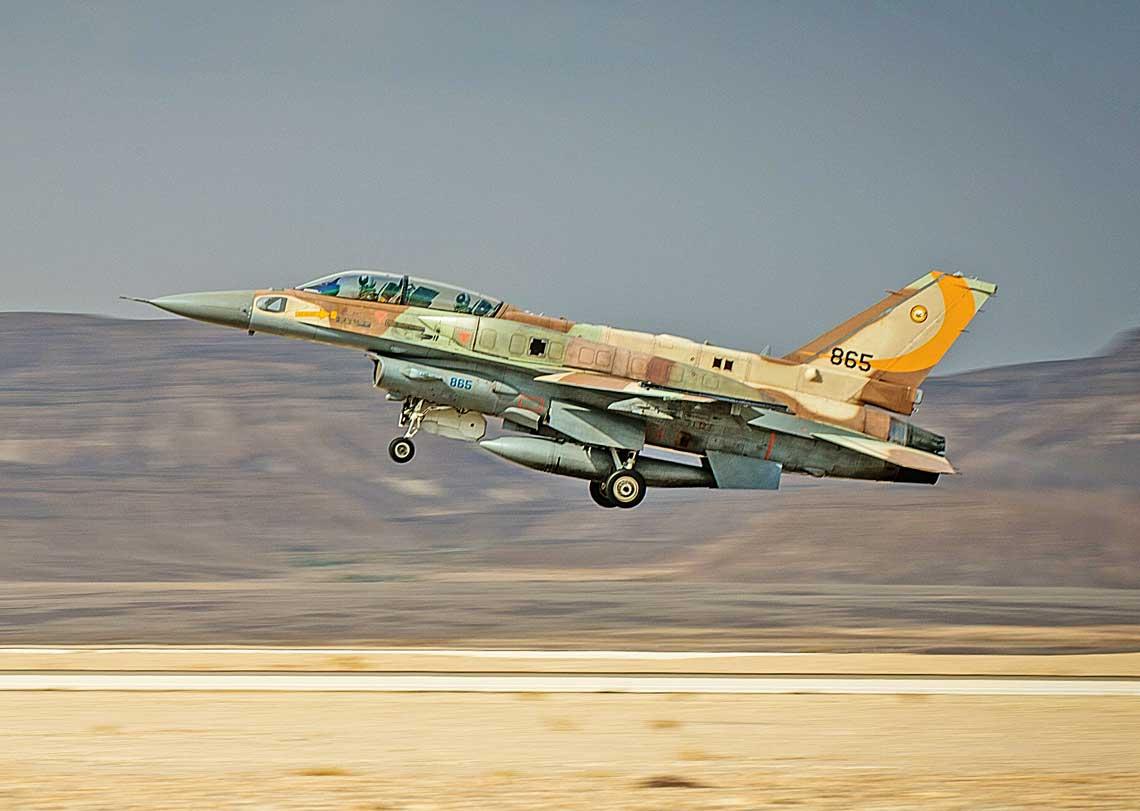 F-16I Sufa – podstawowy samolot Hel HaAwir wczasie ostatnich atakow na cele polozone na terytorium Syrii.