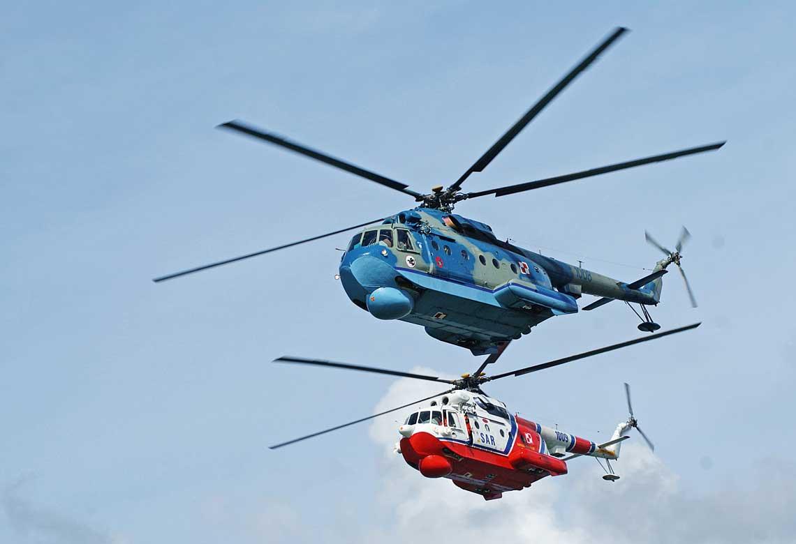 Przez wiele lat wydawalo sie, ze wBrygadzie Lotnictwa Marynarki Wojennej pilnej wymiany potrzebuja maszyny przeciwpodwodne Mi-14PL iratownicze PL/R, jednak obecnie wyglada na to, ze oba typy bedą jeszcze kilka lat sluzyc.