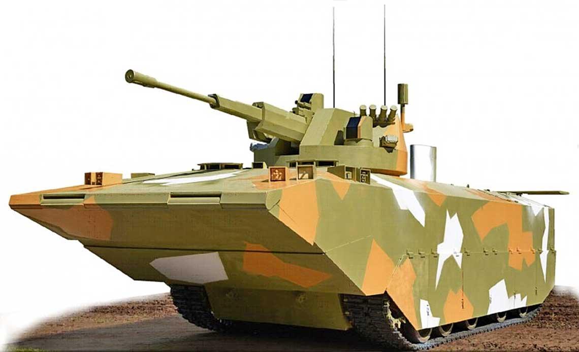 Wizja projektowanego wOmsku bojowego wozu piechoty morskiej BMMP.