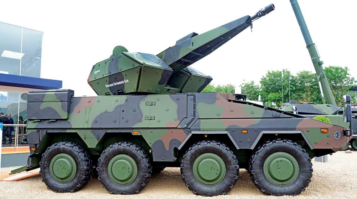 Skyranger Boxer to ciekawe wykorzystanie modulowosci transportera Boxer.