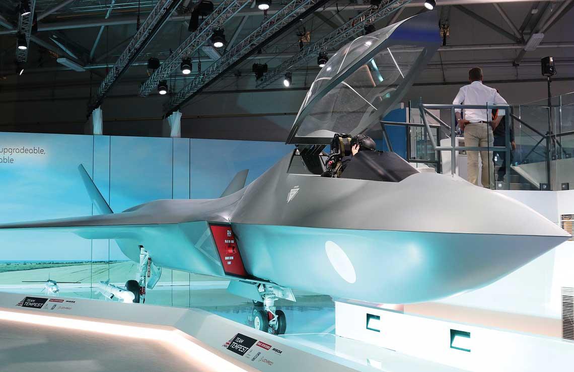 Najwazniejsza wojskowa nowoscia FIA 2018 byla prezentacja makiety samolotu bojowego 6.generacji Tempest.