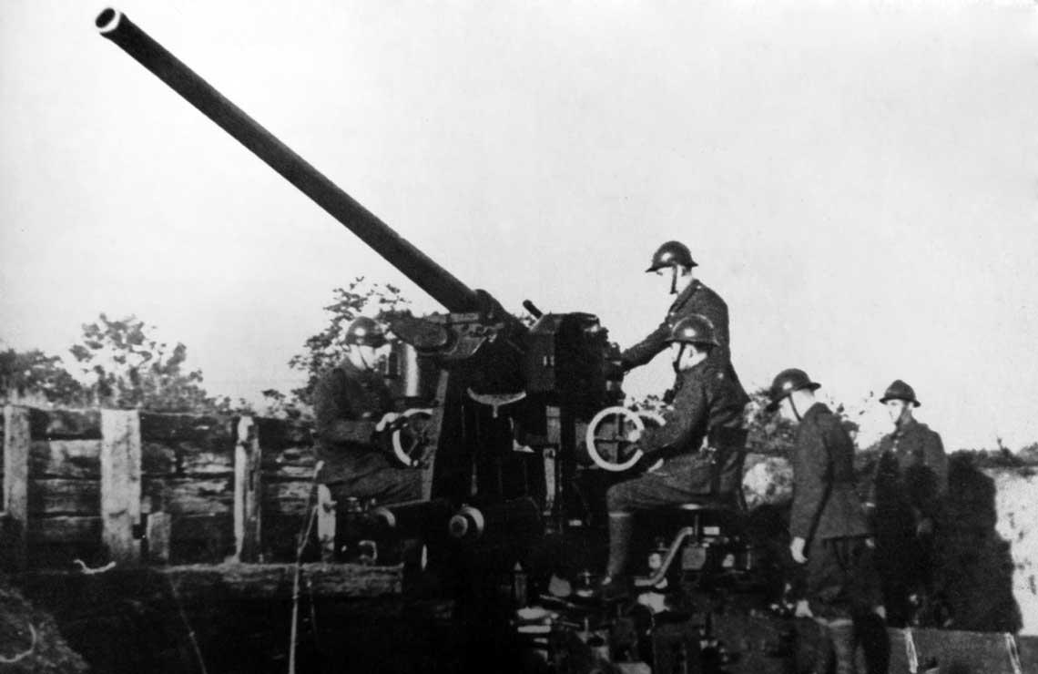 Zamknac gorny pulap. Polska ciezka artyleria przeciwlotnicza 1930-1939