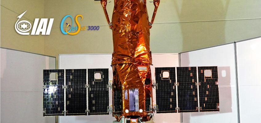 Satelita rozpoznania obrazowego Israel Aerospace Industries OptSat 3000 w całej okazałości.