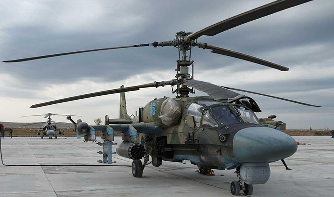 Pierwsze rosyjskie smiglowce bojowe Kamow Ka-52 przybyly do Syrii w marcu 2916 r., w nastepnym miesiacu zas po raz pierwszy uzyto ich w walkach w rejonie miejscowosci Homs.