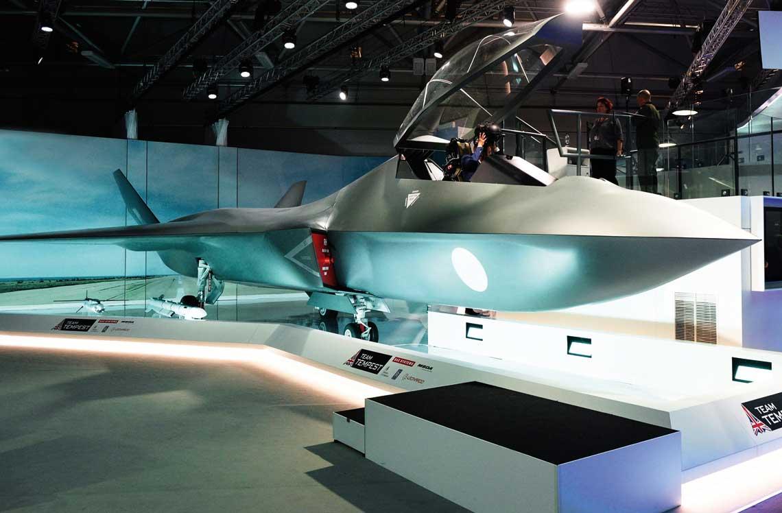 Pierwsza oficjalna prezentacja koncepcji samolotu bojowego nowej generacji BAE Systems Tempest miala miejsce podczas tegorocznego miedzynarodowego salonu lotniczego w Farnborough. Fot. Tempest Team