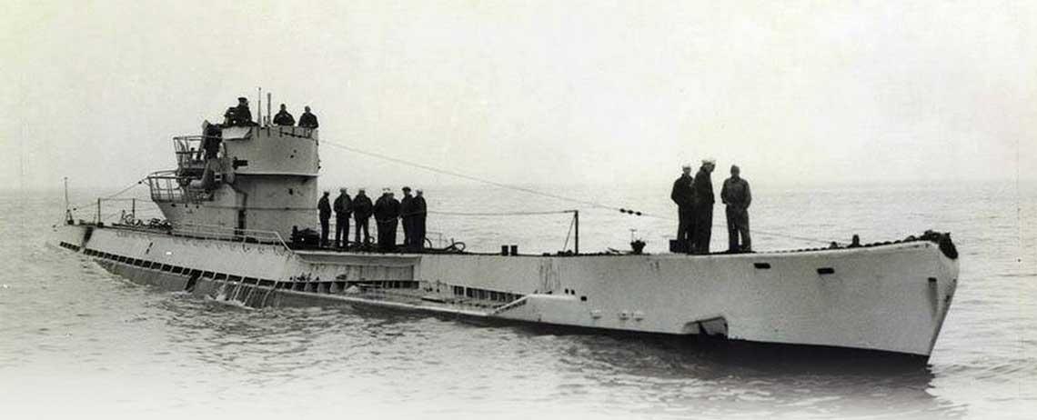 Niemiecki okret podwodny typu IX C/40 – U 530, zdjecie z 1945 r. Fot. zbiory Mariusza Borowiaka