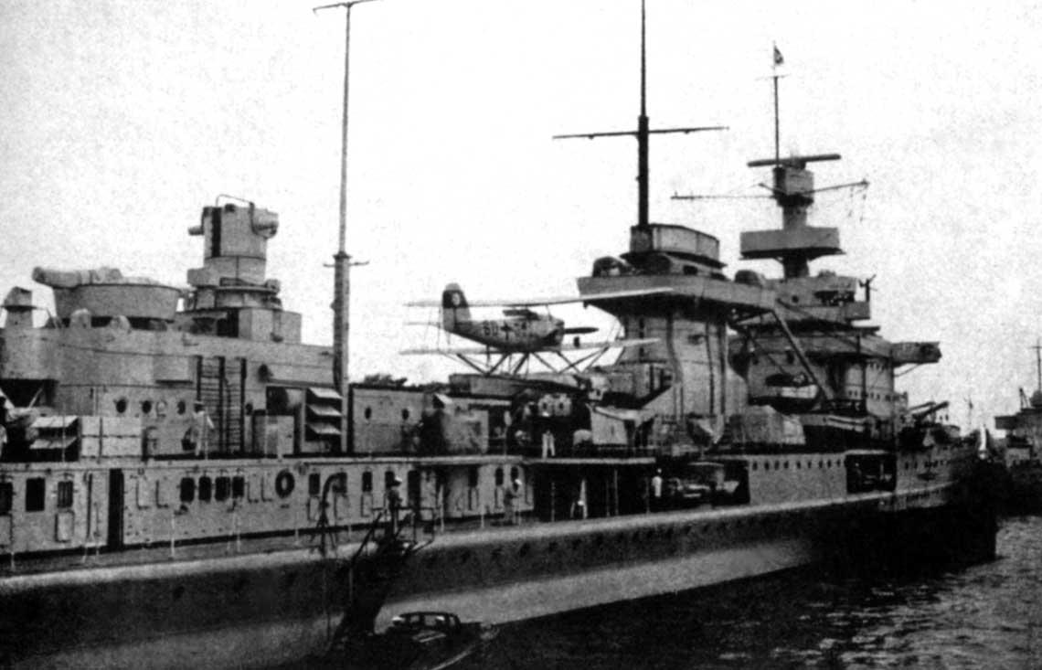 Pierwszym krownikiem Kriegsmarine wyposazonym wwodnosamolot pokladowy He 60 byl Nürnberg.