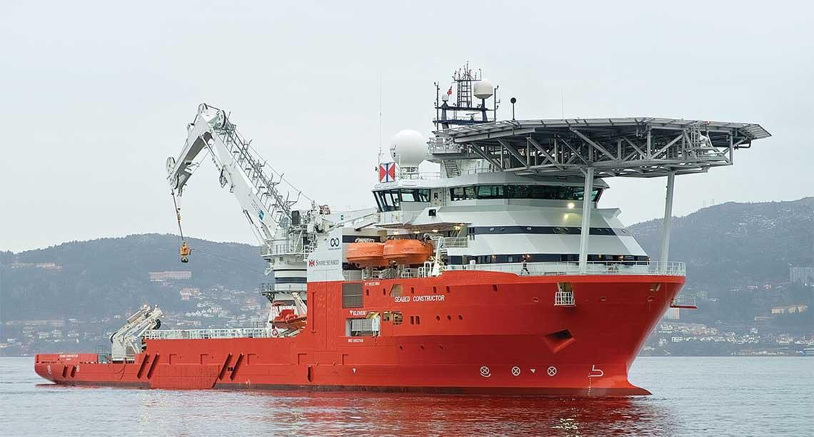 Wielozadaniowy statek badawczy Seabed Constructor. Wyslane z jego pokladu roboty odnalazly wrak San Juana. Fot. Swire Seabed