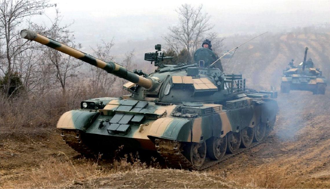 Chinskie wersje czolgu T-54 oraz konstrukcje pochodne.