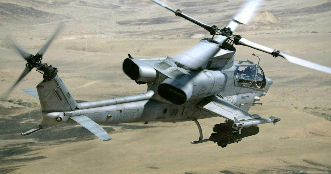 Smiglowiec szturmowy Bell AH-1 Cobra.