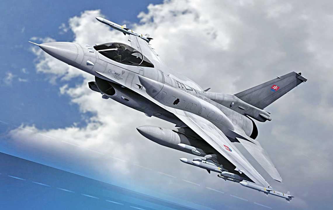 Wgrudniu 2018 r. wBratyslawie podpisane zostaly dokumenty zwiazane zzamowieniem samolotow F-16V Block 70 wStanach Zjednoczonych za posrednictwem procedury FMS iumowa owspolpracy przemyslowej pomiedzy slowackim resortem obrony akorporacja Lockheed Martin.