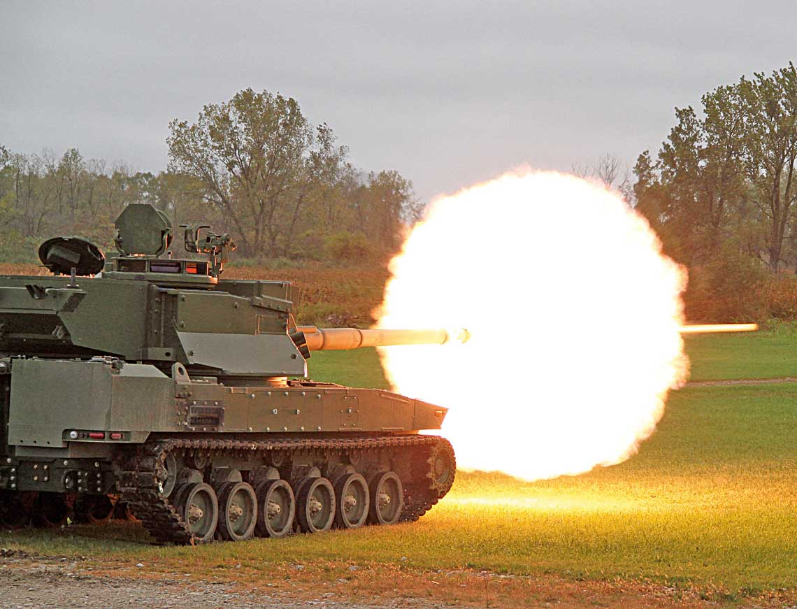 Jeden z dwoch finalistow fazy EMD programu Mobile Protected Firepower – GDLS Griffin II.
