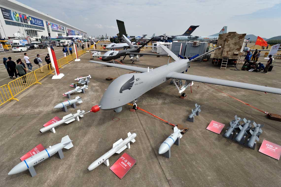 Korporacja AVIC sprzedala za granice juz 100 sednich samolotow bezzalogowych Wing Loong I i deklaruje, ze ma jeszcze sto nastepnych zamwien do wykonania. Wszystkie fot. Piotr Butowski