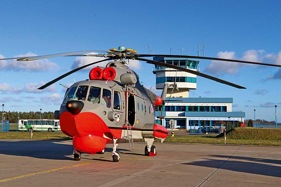Mi-14PL/R nr1012, pierwszy ze smiglowcow 44.Bazy Lotnictwa Morskiego wDarlowie, ktory powrocil do macierzystej jednostki po zakonczonym remoncie glownym.