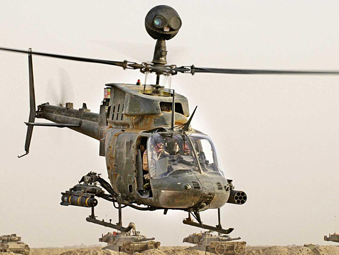Starodawny, lecz nieodzalowany wUSArmy, OH-58D Kiowa Warrior. Powstala po jego wycofaniu pustka dotad nie zostala zadowalajaco wypeniona.