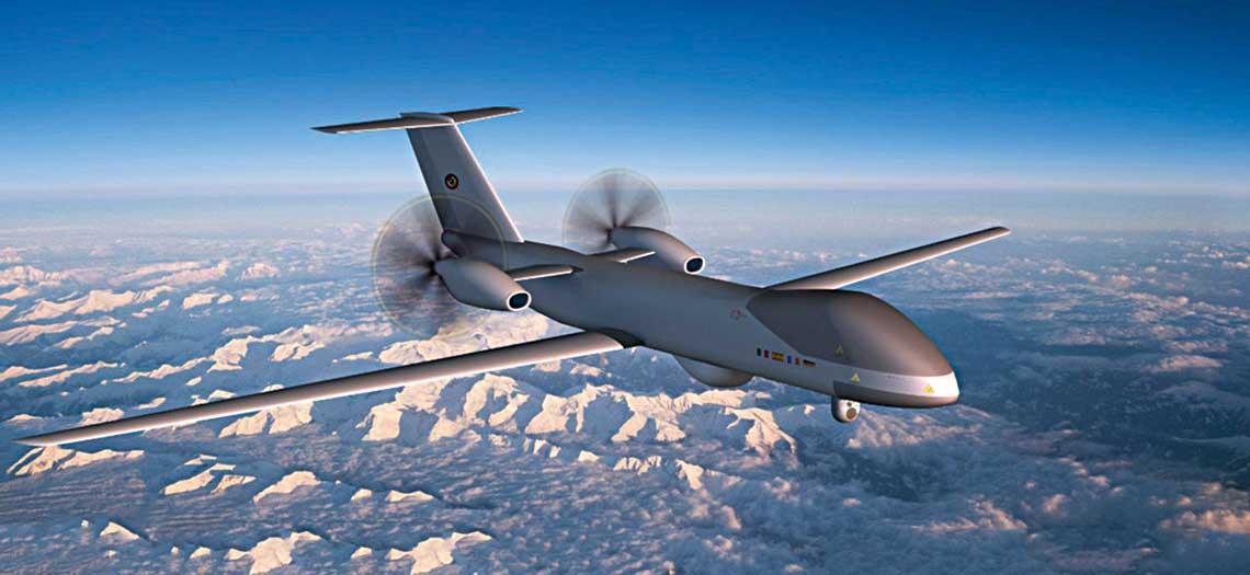 Najnowsza dostepna wizja aparatu latajacego systemu EuroMALE, udostepniona na poczatku tego roku.