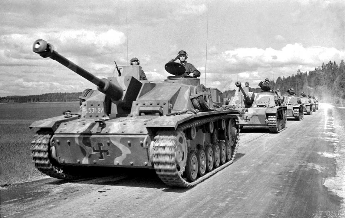 Sturmgeschütz III Ausf. G – ostateczna i najliczniejsza wersja dziala szturmowego tego typu. Na zdjeciu: pojazd w sluzbie finskich sil zbrojnych.