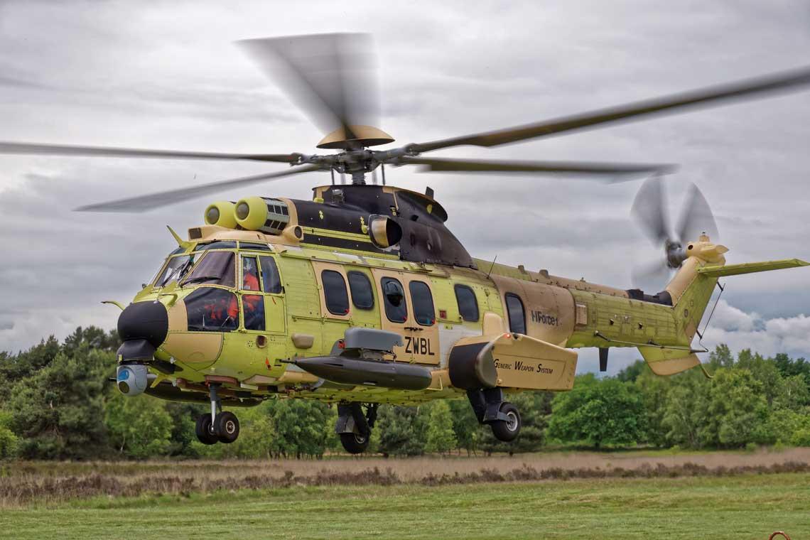Modulowy system uzbrojenia HForce  moze byc stosowany na wszystkich śmiglowcach  Airbus Helicopters, od najmniejszych H125 do H225.  Fot. Airbus Helicopters