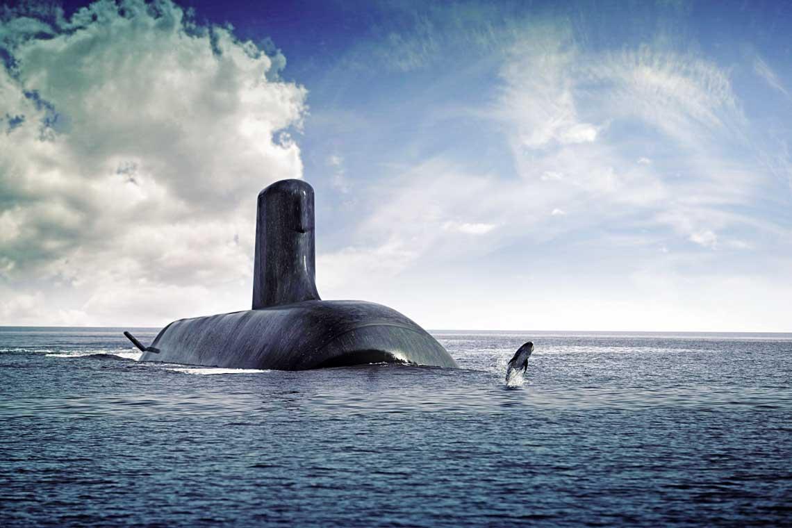 Jak ostatecznie beda wygladaly okrety podwodne typu Attack, na razie nie wiadomo. Ich szczegolowy projekt dopiero powstanie. Na razie sa one przedstawiane identycznie, jak francuskie Suffreny.